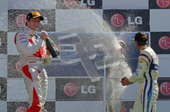 © Octane Photographic Ltd. 2011. European Formula1 GP, Sunday 26th June 2011. GP2 Sunday race. Race 2 Podium, Esteban Gutiérrez - Lotus ART, Luiz Razia - Caterham Team AirAsia, Giedo Van Der Garde - Barwa Addax Team. Digital Ref:  0090CB1D9622