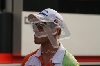 © Octane Photographic Ltd. 2011. Formula 1 World Championship – Italy – Monza – 11th September 2011. Race Day in the Paddock. Adrain Sutil walking into the paddock before the race. Digital Ref : 0193LW7D6488
