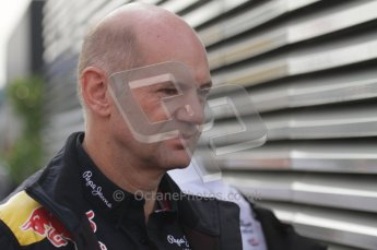 © Octane Photographic Ltd. 2011. Formula 1 World Championship – Italy – Monza – 11th September 2011. Race Day in the Paddock. Adrian Newey in the paddock this morning before the F1 race. Digital Ref : 0193LW7D6705