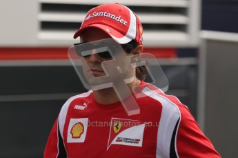 © Octane Photographic Ltd. 2011. Formula 1 World Championship – Italy – Monza – 11th September 2011. Race Day in the Paddock. Felipe Massa in the paddock before the race. Digital Ref : 0193LW7D6814