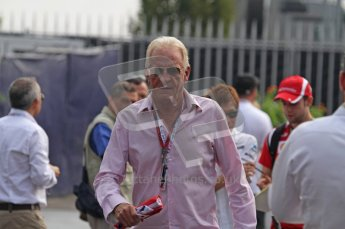 © Octane Photographic Ltd. 2011. Formula 1 World Championship – Italy – Monza – 11th September 2011. Race Day in the Paddock. John Button, Jenson's dad walking through the paddock. Digital Ref : 0193LW7D6958