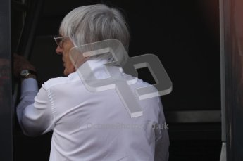 © Octane Photographic Ltd. 2011. Formula 1 World Championship – Italy – Monza – 11th September 2011. Race Day in the Paddock. Bernie Ecclestone, F1 Supremo going into his motorhome before the race. Digital Ref : 0193LW7D7017