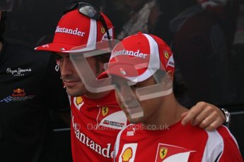 © Octane Photographic Ltd. 2011. Formula 1 World Championship – Italy – Monza – 11th September 2011. Race Day in the Paddock. Felipe Massa and Fernando Alonso outside the FIA motorhome. Digital Ref : 0193LW7D7134