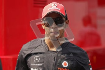 © Octane Photographic Ltd. 2011. Formula 1 World Championship – Italy – Monza – 11th September 2011. Race Day in the Paddock. Lewis Hamilton in the paddock before race. Digital Ref : 0193LW7D7243