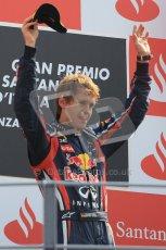 © Octane Photographic Ltd. 2011. Formula 1 World Championship – Italy – Monza – 11th September 2011 – Podium – Sebastian Vettel (Red Bull) on the podium. Digital Ref : 0178CB1D4146