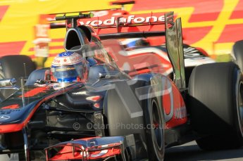 © Octane Photographic Ltd. 2011. Formula 1 World Championship – Italy – Monza – 9th September 2011 – Jenson Button - Vodafone McLaren Mercedes MP4/26, Free practice 1 – Digital Ref : 0173CB1D1655