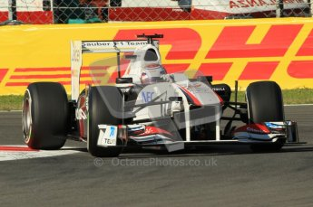 © Octane Photographic Ltd. 2011. Formula 1 World Championship – Italy – Monza – 9th September 2011 – Kamui Kobayashi - Sauber C30, Free practice 1 – Digital Ref :  0173CB1D1687