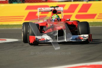 © Octane Photographic Ltd. 2011. Formula 1 World Championship – Italy – Monza – 9th September 2011 – Felipe Massa, Ferrari F150 - Free practice 1 – Digital Ref :  0173CB1D1730