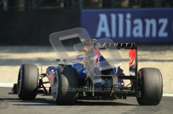 © Octane Photographic Ltd. 2011. Formula 1 World Championship – Italy – Monza – 9th September 2011 – Mark Webber, Red Bull Racing RB7 - Free practice 1 – Digital Ref :  0173CB1D1817
