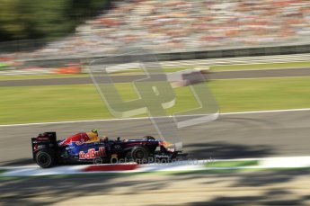 © Octane Photographic Ltd. 2011. Formula 1 World Championship – Italy – Monza – 9th September 2011 – Mark Webber, Red Bull Racing RB7 - Free practice 1 – Digital Ref : 0173CB7D5971