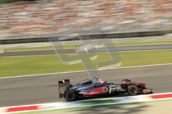 © Octane Photographic Ltd. 2011. Formula 1 World Championship – Italy – Monza – 9th September 2011 –  Jenson Button - Vodafone McLaren Mercedes MP4/26, Free practice 1 – Digital Ref :  0173CB7D5995