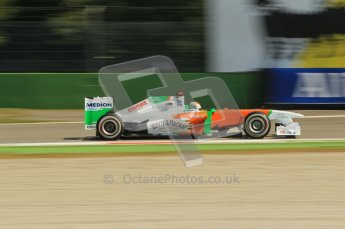 © Octane Photographic Ltd. 2011. Formula 1 World Championship – Italy – Monza – 9th September 2011 – Free practice 2, Force India VJM04 - Paul di Resta – Digital Ref :  0174CB1D2298