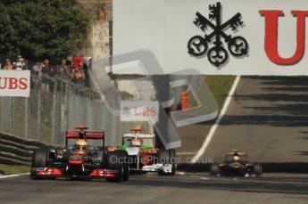 © Octane Photographic Ltd. 2011. Formula 1 World Championship – Italy – Monza – 9th September 2011 – Free practice 2, Vodafone McLaren Mercedes MP4/16 - Lewis Hamilton – Digital Ref :  0174CB7D6230