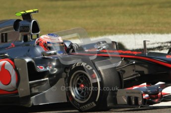 © Octane Photographic Ltd. 2011. Formula 1 World Championship – Italy – Monza – 9th September 2011, Vodafone McLaren Mercedes MP4/16 - Jenson Button – Free practice 2 – Digital Ref :  0174CB7D6269