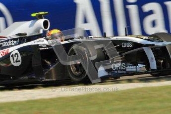 © Octane Photographic Ltd. 2011. Formula 1 World Championship – Italy – Monza – 9th September 2011, Williams FW33 - Pastor Maldonado – Free practice 2 – Digital Ref :  0174CB7D6489