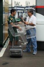 © Octane Photographic Ltd. 2011. Formula 1 World Championship – Italy – Monza – 10th September 2011 – Free practice 3, Vicky and Karun Chandhock – Digital Ref :  0175CB1D2442