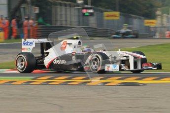 © Octane Photographic Ltd. 2011. Formula 1 World Championship – Italy – Monza – 10th September 2011, Sergio Perez, Sauber C30 – Free practice 3 – Digital Ref :  0175CB1D2475