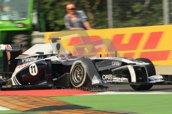 © Octane Photographic Ltd. 2011. Formula 1 World Championship – Italy – Monza – 10th September 2011, Rubens Barrichello, Williams FW33 – Free practice 3 – Digital Ref :  0175CB1D2550
