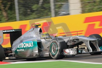 © Octane Photographic Ltd. 2011. Formula 1 World Championship – Italy – Monza – 10th September 2011, Nico Rosberg - Mercedes GP MGP W02 – Free practice 3 – Digital Ref : 0175CB1D2640
