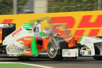 © Octane Photographic Ltd. 2011. Formula 1 World Championship – Italy – Monza – 10th September 2011 - Adrian Sutil, Force India VJM04 – Free practice 3 – Digital Ref : 0175CB1D2658