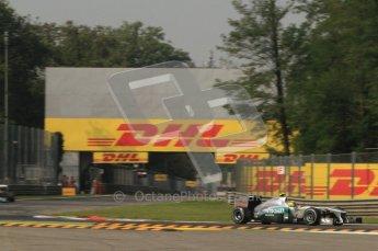 © Octane Photographic Ltd. 2011. Formula 1 World Championship – Italy – Monza – 10th September 2011, Michael Shumacher, Mercedes GP MGP W02 – Free practice 3 – Digital Ref :  0175CB7D6708