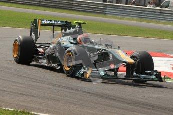 © Octane Photographic Ltd. 2011. Formula 1 World Championship – Italy – Monza – 11th September 2011 Jarno Trulli – Race outlap – Digital Ref : 0177CB7D7708