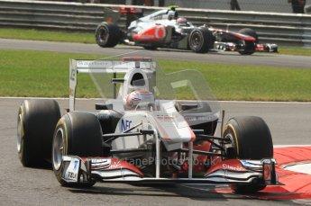 © Octane Photographic Ltd. 2011. Formula 1 World Championship – Italy – Monza – 11th September 2011 Kamui Kobayashi, Sauber C30 – Race outlap– Digital Ref :  0177CB7D7714