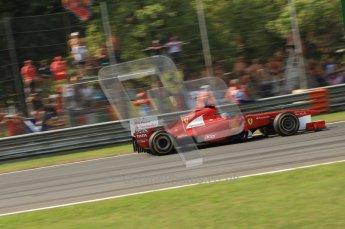 © Octane Photographic Ltd. 2011. Formula 1 World Championship – Italy – Monza – 11th September 2011 Fernando Alonso's Ferrari brakes for the 1st chicane – Race – Digital Ref :  0177CB7D8106