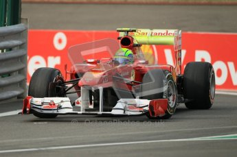 © Octane Photographic Ltd. 2011. Formula One Belgian GP – Spa – Friday 26th August 2011 – Free Practice 1, Felipe Massa - Ferrari F150. Digital Reference : 0163CB1D7003