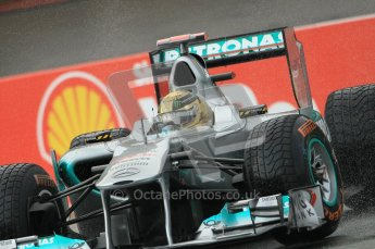 © Octane Photographic Ltd. 2011. Formula One Belgian GP – Spa – Friday 26th August 2011 – Free Practice 1, Michael Schumacher - Mercedes MGP W02. Digital Reference : 0163CB1D7123