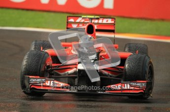 © Octane Photographic Ltd. 2011. Formula One Belgian GP – Spa – Friday 26th August 2011 – Free Practice 1, Jerome d'Ambrosio - Marussia Virgin Racing VMR02. Digital Reference : 0163CB1D7220