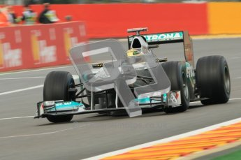 © Octane Photographic Ltd. 2011. Formula One Belgian GP – Spa – Friday 26th August 2011 – Free Practice 1, Michael Schumacher - Mercedes MGP W02. Digital Reference : 0163CB1D7251