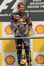 © Octane Photographic Ltd. 2011. Formula One Belgian GP – Spa – Sunday 28th August 2011, Sebastian Vettel. Digital Reference : 0169cb1d1009