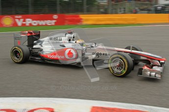 © Octane Photographic Ltd. 2011. Formula One Belgian GP – Spa – Sunday 28th August 2011 – Race. Lewis Hamilton takes La Source in his Vodafone McLaren Mercedes MP4/26. Digital Reference : 0168lw7d9147