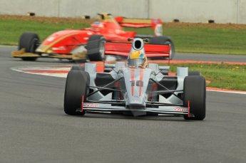 © Octane Photographic 2011. FIA F2 - 16th April 2011, Race 1. Max Snegirev, Mirko Bortolotti. Silverstone, UK. Digital Ref. 0050CB1D0794