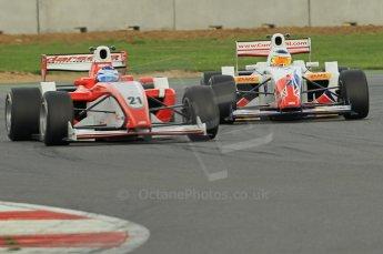 © Octane Photographic 2011. FIA F2 - 16th April 2011, Race 1. Thiemo Storz, James Cole. Silverstone, UK. Digital Ref. 0050CB1D0886