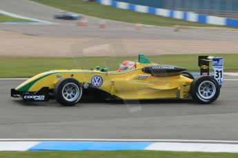 © Octane Photographic 2011 – British Formula 3 - Donington Park. 24th September 2011, Felipe Nasr - Carlin - Dallara F308 Volkswagen. Digital Ref : 0182lw1d5438