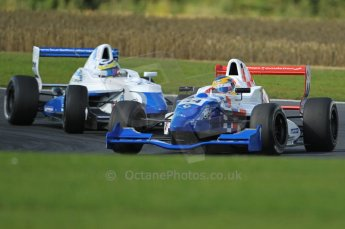 © Octane Photographic Ltd. 2011. Formula Renault 2.0 UK – Snetterton 300, Oliver Rowland - Fortec Motorsports tussling with Daniel Cammish - Mark Burdett Motorsport. Sunday 7th August 2011. Digital Ref : 0123CB1D3641