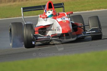 © Octane Photographic Ltd. 2011. Formula Renault 2.0 UK – Snetterton 300, Felix Serralles - Fortec Competition, on the braking limit. Sunday 7th August 2011, Felix Serralles - Fortec Competition, finding the braking limits. Digital Ref : 0123CB1D3681