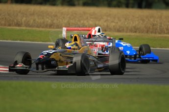 © Octane Photographic Ltd. 2011. Formula Renault 2.0 UK – Snetterton 300, Tio Ellinas - Atech Reid GP leads Alex Lynn and Oliver Rowland - Fortec Motorsports. Sunday 7th August 2011. Digital Ref : CB1D3820