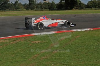 © Octane Photographic Ltd. 2011. Formula Renault 2.0 UK – Snetterton 300. Felix Serralles - Fortec Competition, on the limit through Montreal Hairpin. Sunday 7th August 2011. Digital Ref : 0123LW7D0153
