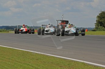 © Octane Photographic Ltd. 2011. Formula Renault 2.0 UK – Snetterton 300, Dan Wells leads Oscar King both of Atech Reid GP with Pedro Pablo Calbimontre in pursuit. Sunday 7th August 2011. Digital Ref : 0123LW7D0467