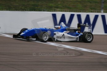 © Octane Photographic Ltd. The British F3 International & British GT Championship at Rockingham. Carlos Huertas from Carlin out on track. Digital Ref: 0188LW7D2563
