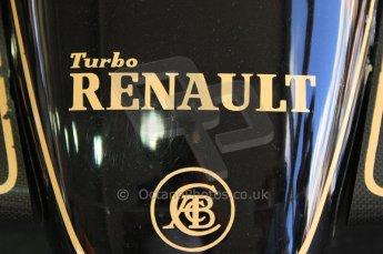 © Octane Photographic 2011. Goodwood Festival of Speed, Thursday 30th June 2011. Renault V6 Turbo. Digital Ref : 0097CB7D5111