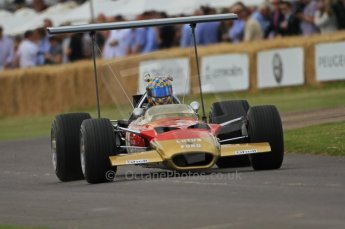 © Octane Photographic 2011. Goodwood Festival of Speed, Friday 1st July 2011. Lotus 49B driven by Dan Collins. Digital Ref : 0097CB7D68090