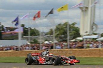 © Octane Photographic 2011. Goodwood Festival of Speed, Friday 1st July 2011. McLaren MP4/24 driven by Chris Goodwin. Digital Ref : 0097LW7D8711