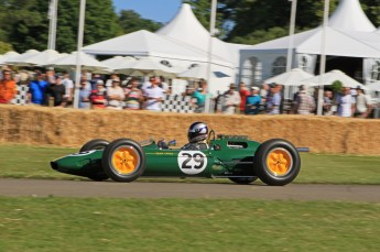 © Octane Photographic 2011. Goodwood Festival of Speed, Friday 1st July 2011. Lotus-Climax 25 - Andy Middlehurst. Digital Ref : CB7D7392