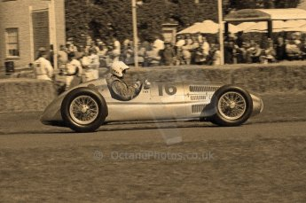 © Octane Photographic 2011. Goodwood Festival of Speed, Historic F1 Mercedes, Friday 1st July 2011. Digital Ref : 0101CB1D7559-sepia