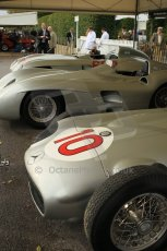 © Octane Photographic 2011 – Goodwood Revival 17th September 2011. Fangio Mercedes collection. Digital Ref : 0179CB1D4271