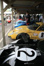 © Octane Photographic 2011 – Goodwood Revival 17th September 2011. Ford GT40 line up. Digital Ref : 0179CB1D4301
